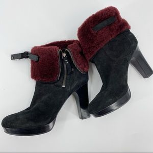 UGG scarlett shearling shaft suede boots New